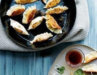 Cashew and smoked tofu potsticker gyoza