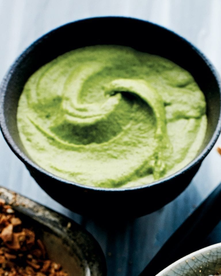 Broad bean & mint dip