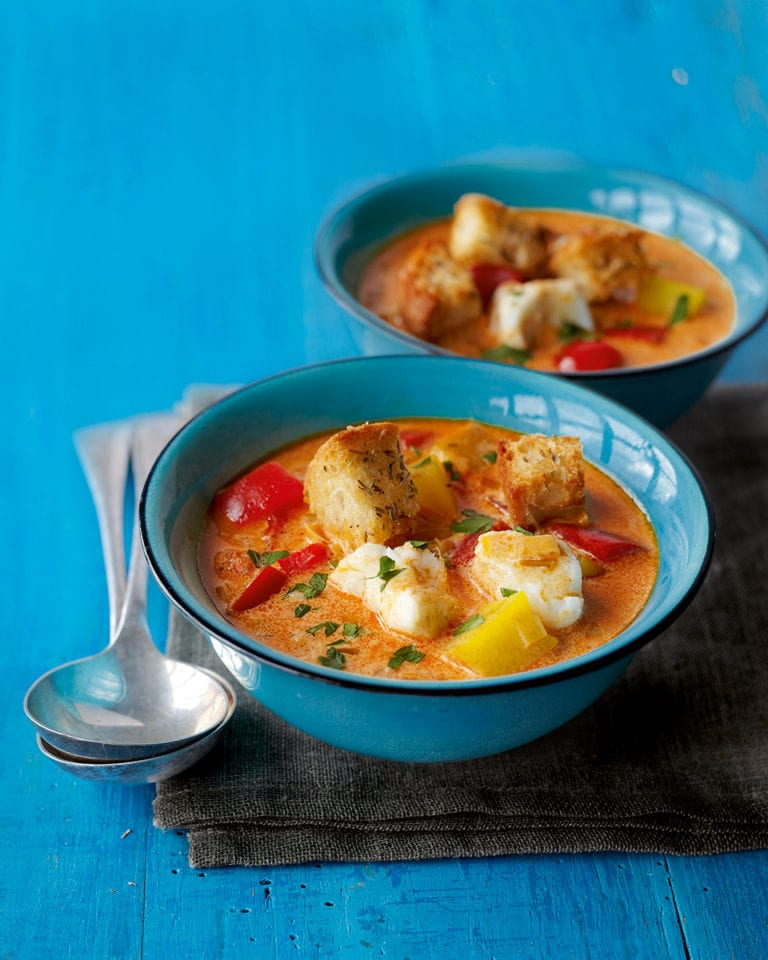 Freezable fish soup