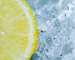 Acidulated water