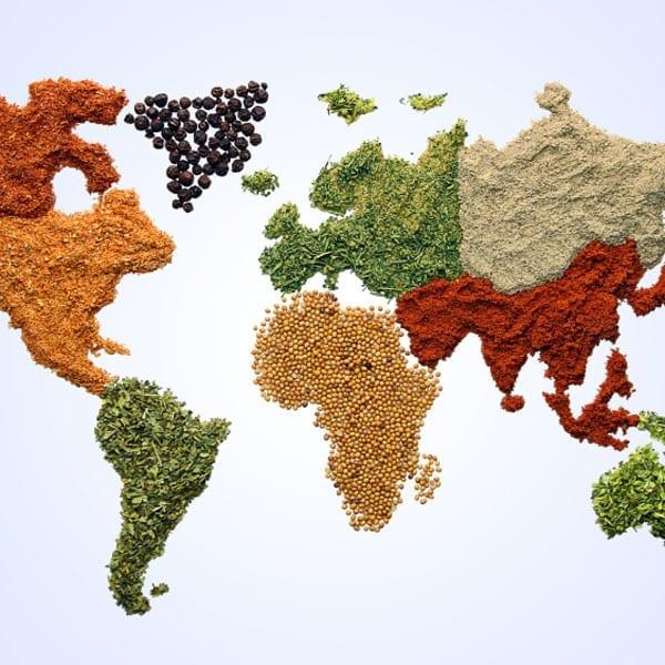 Global cuisine websites