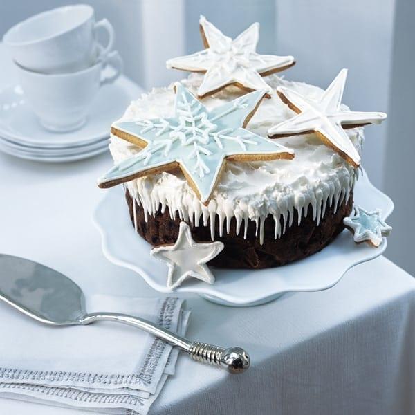 Exotic fruit Christmas cake