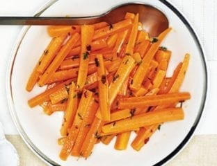 Carrots with thyme and chilli