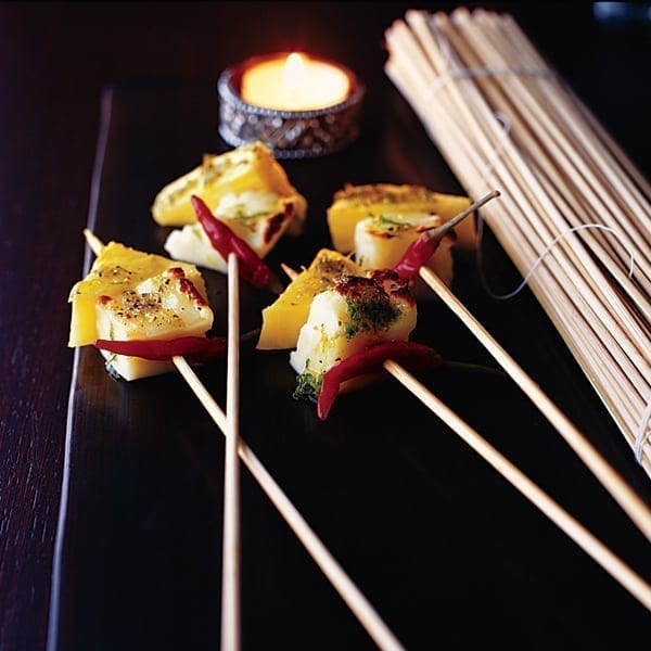 Pineapple and halloumi sticks