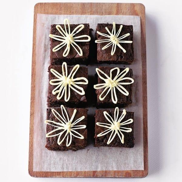 Marmalade daisy brownies