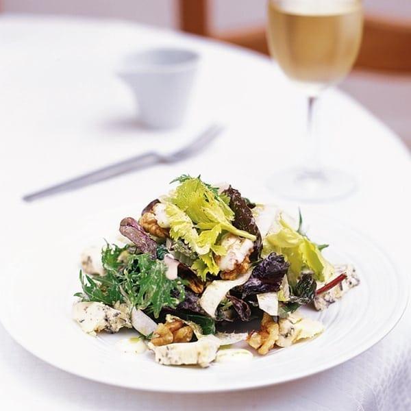 Stilton, walnut and chicory salad