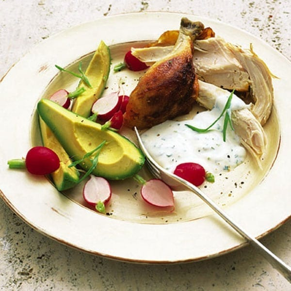 Warm Chicken Salad With Tarragon Mayo