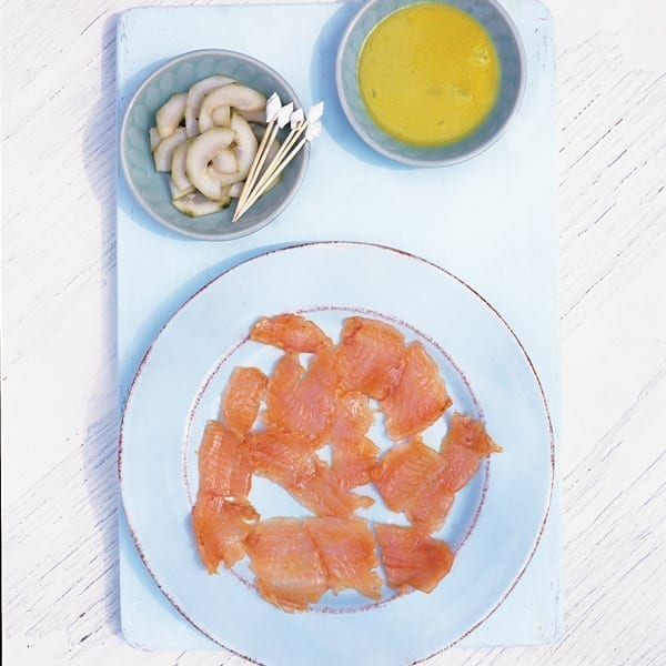 Lime-cured sea trout with wasabi dressing