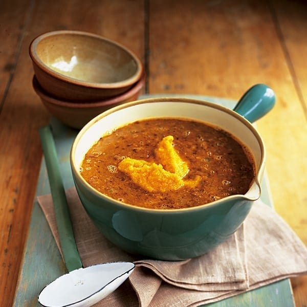 Dhal soup with pumpkin