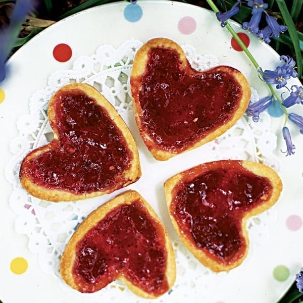 Jam tart hearts