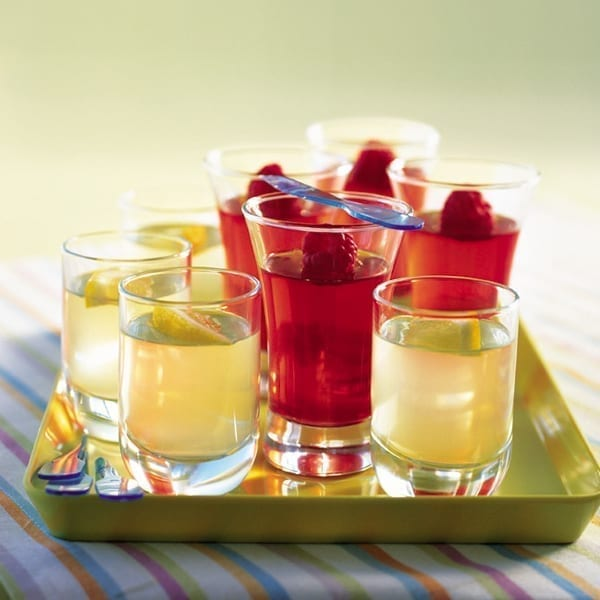 Fruity vodka jellies