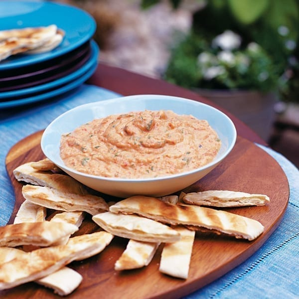 Red pepper and aubergine dip