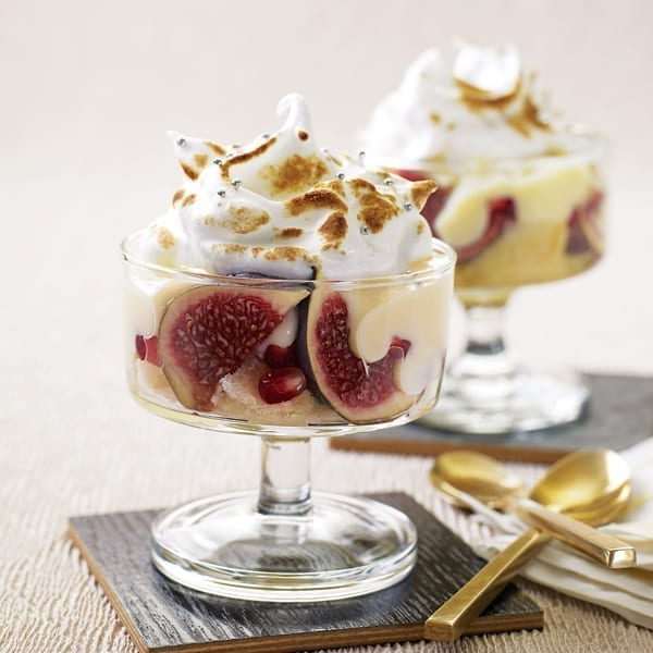 Fig and Marsala trifle with toasted meringue