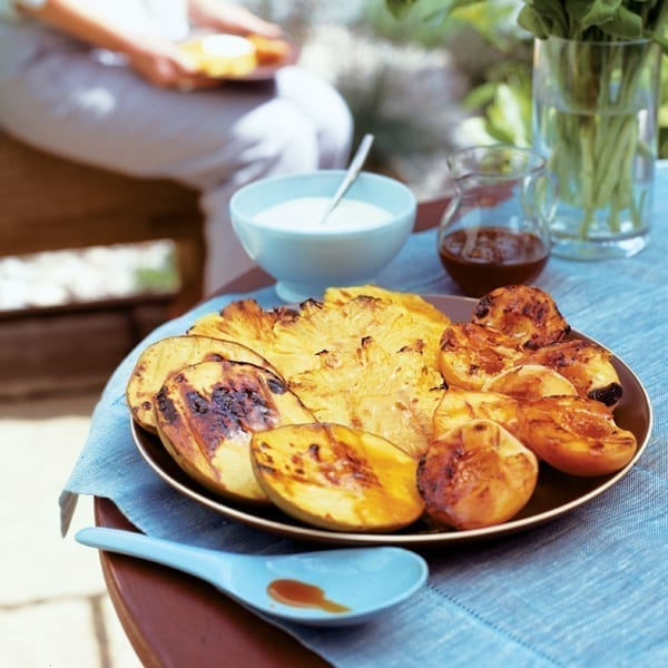 Chargrilled tropical fruits