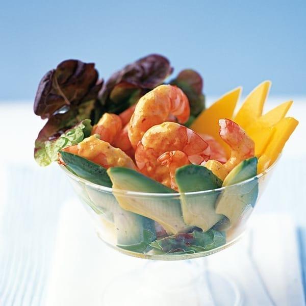 Coronation prawn and mango cocktail
