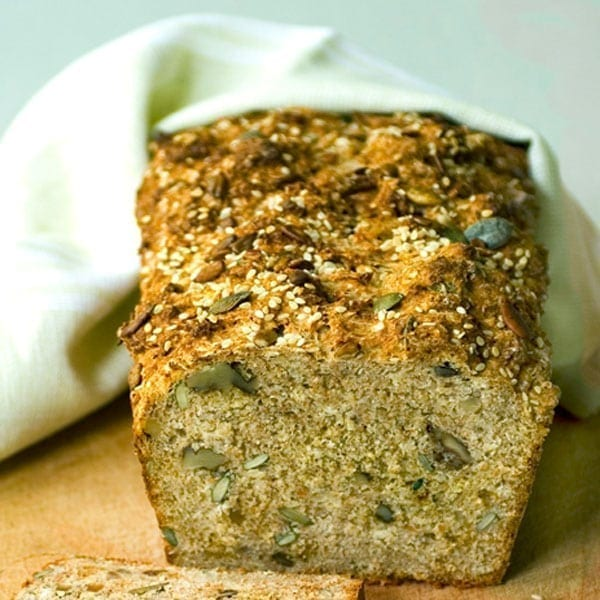 Wheaten bread with sesame and sunflower seeds