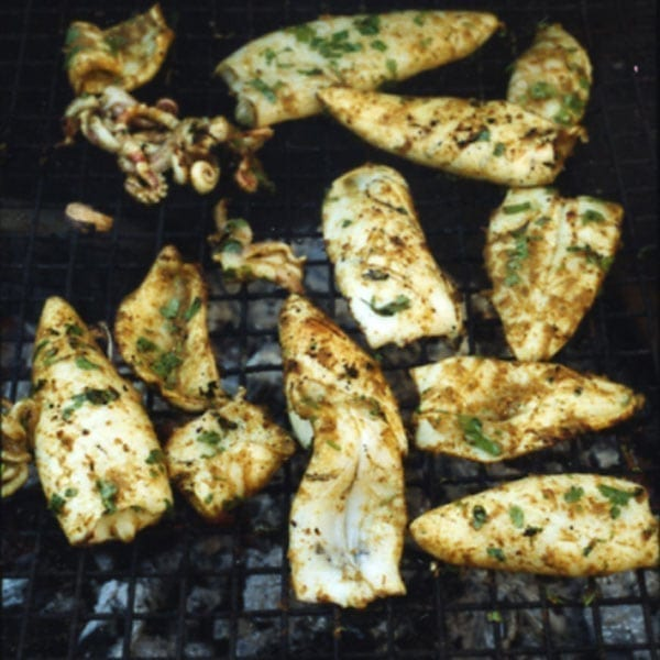 Grilled squid with cumin