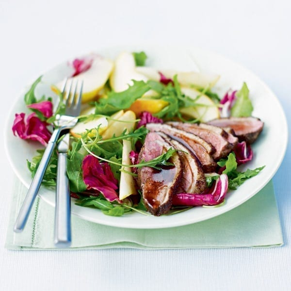 Duck and pear salad