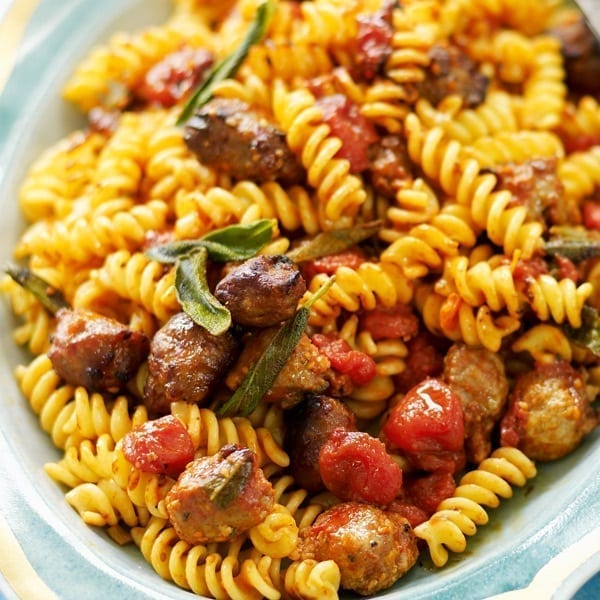 Sage and sausage pasta