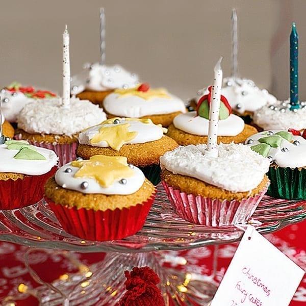 Christmas fairy cakes