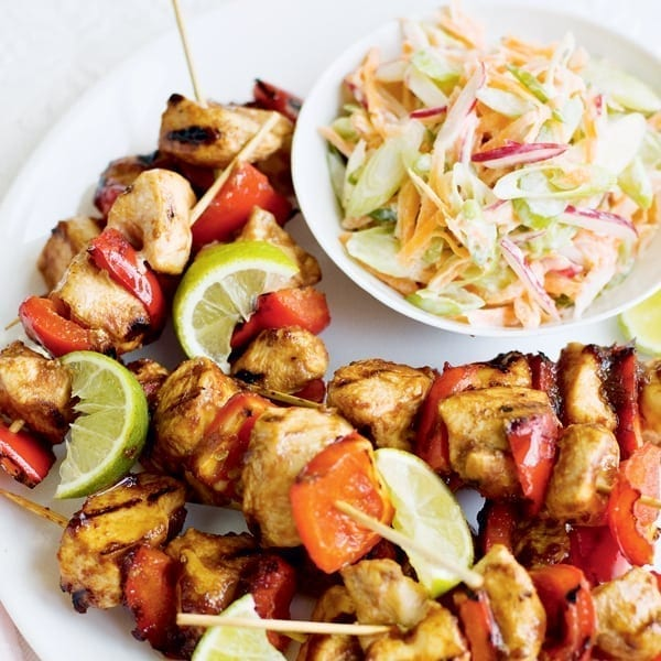 Barbecue-style chicken 'n' coleslaw
