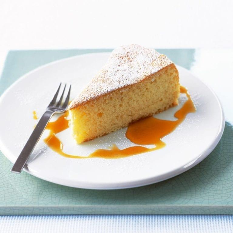 Olive oil sponge cake