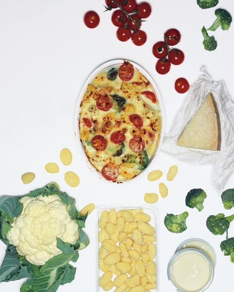 Cauliflower cheese-style gnocchi