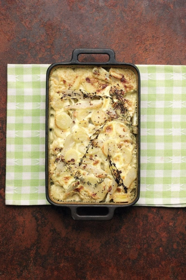 Parsnip and Jerusalem artichoke bake