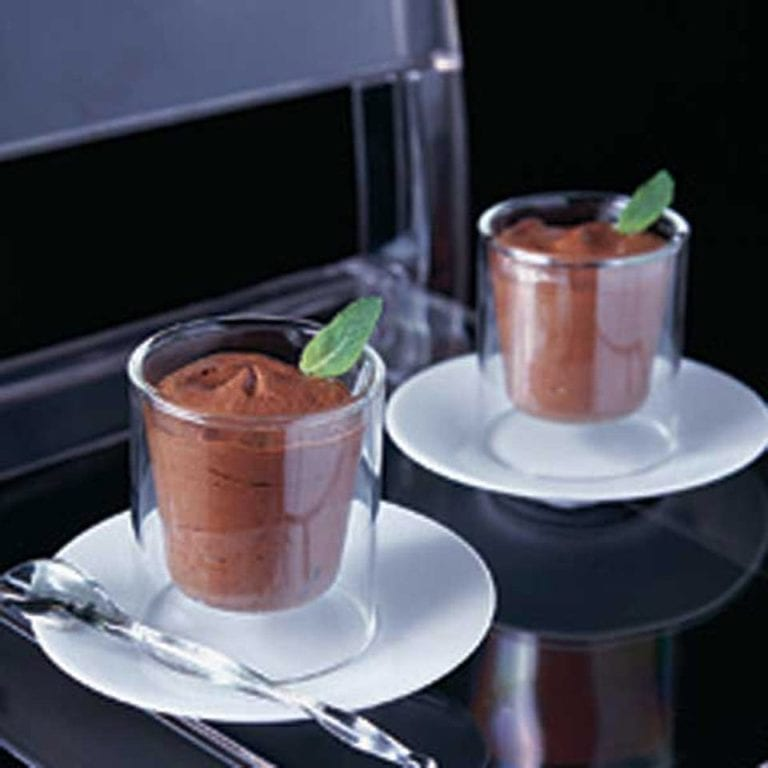 After dinner minty chocolate mousse