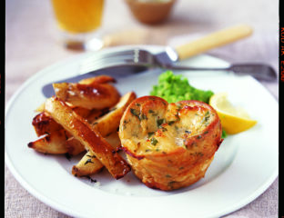 Fish Yorkshires with chunky tartare sauce