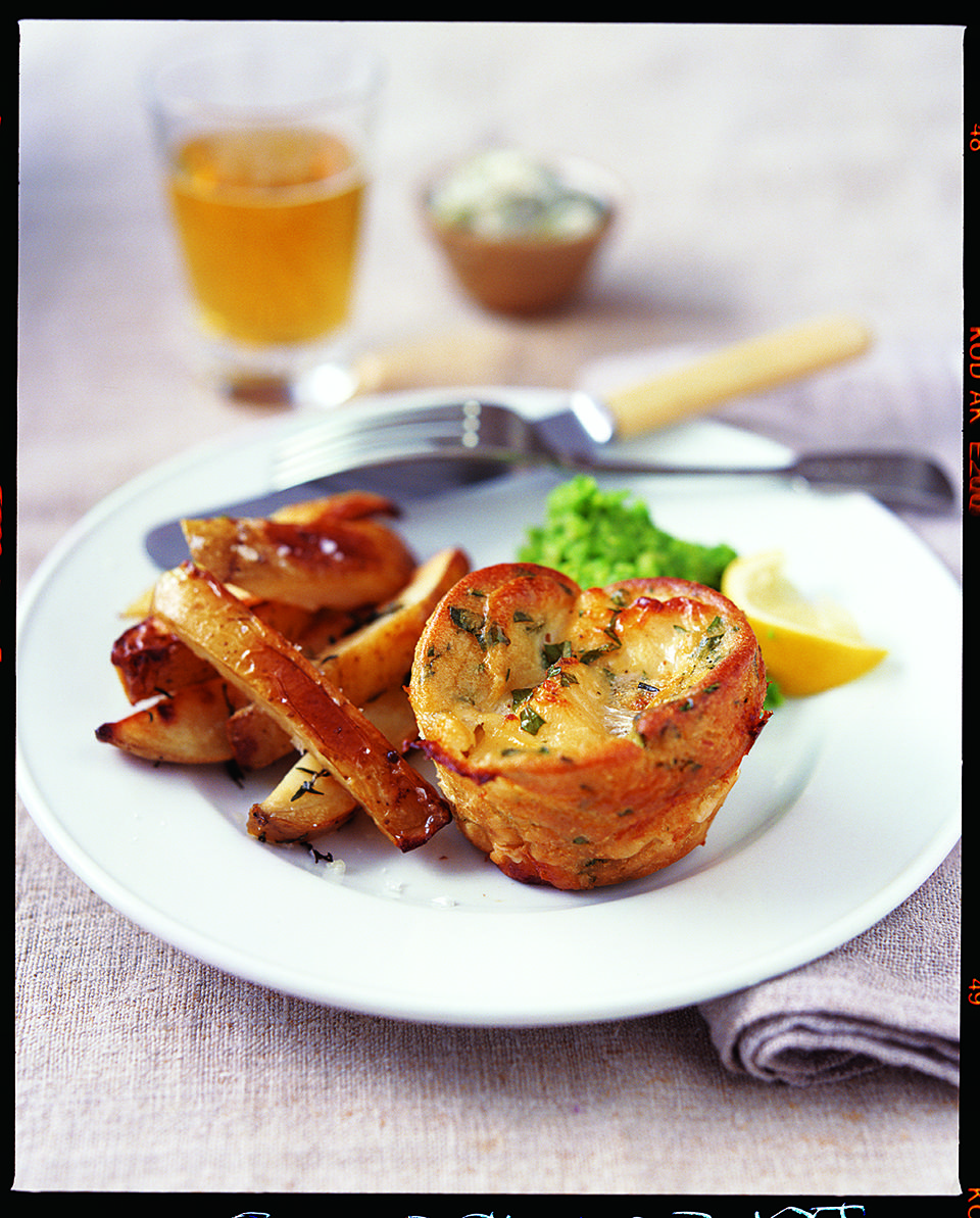 Fish Yorkshires with chunky tartare sauce | delicious. magazine