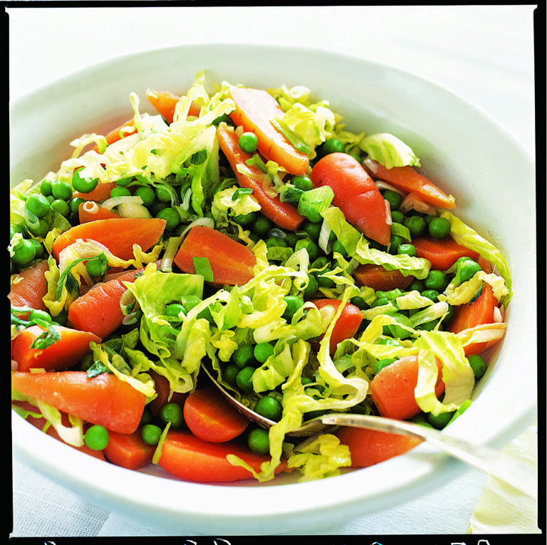 Braised peas and carrots