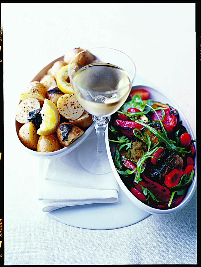 Mediterranean vegetable salad