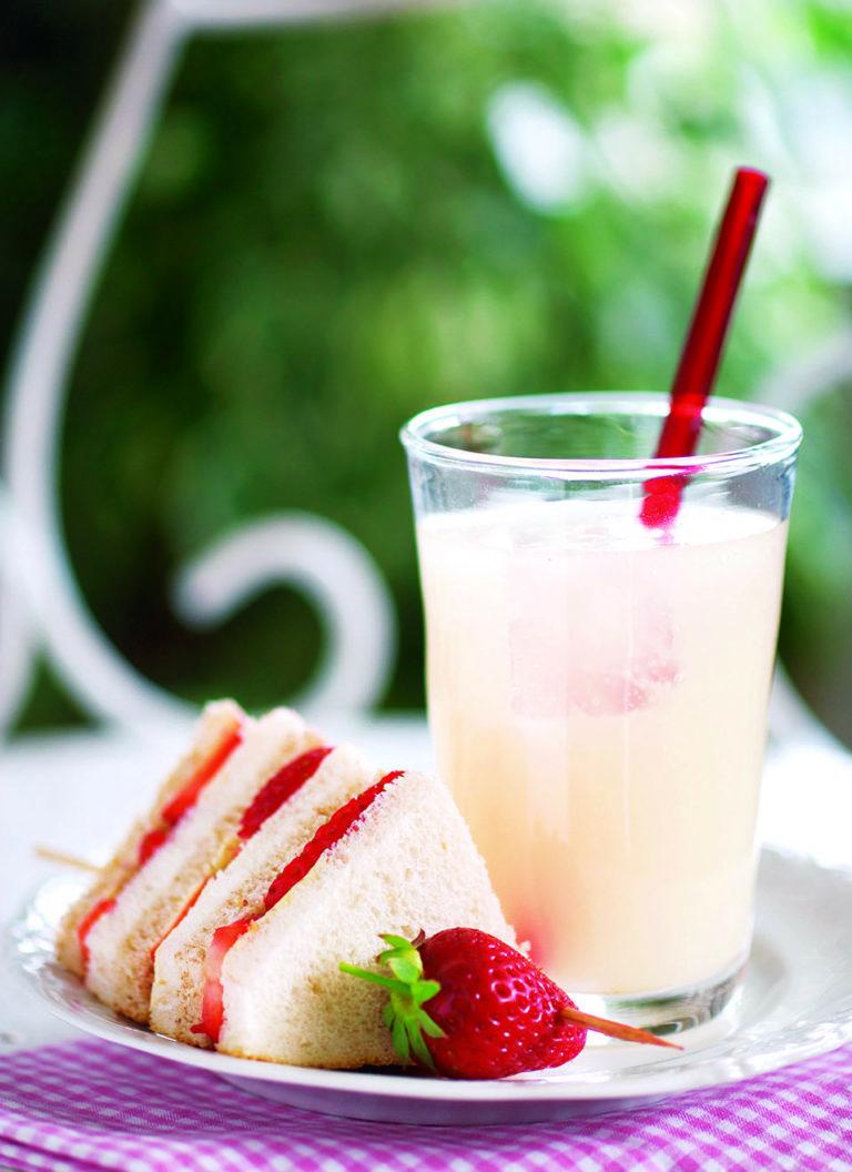 Strawberry cream cheese sandwiches