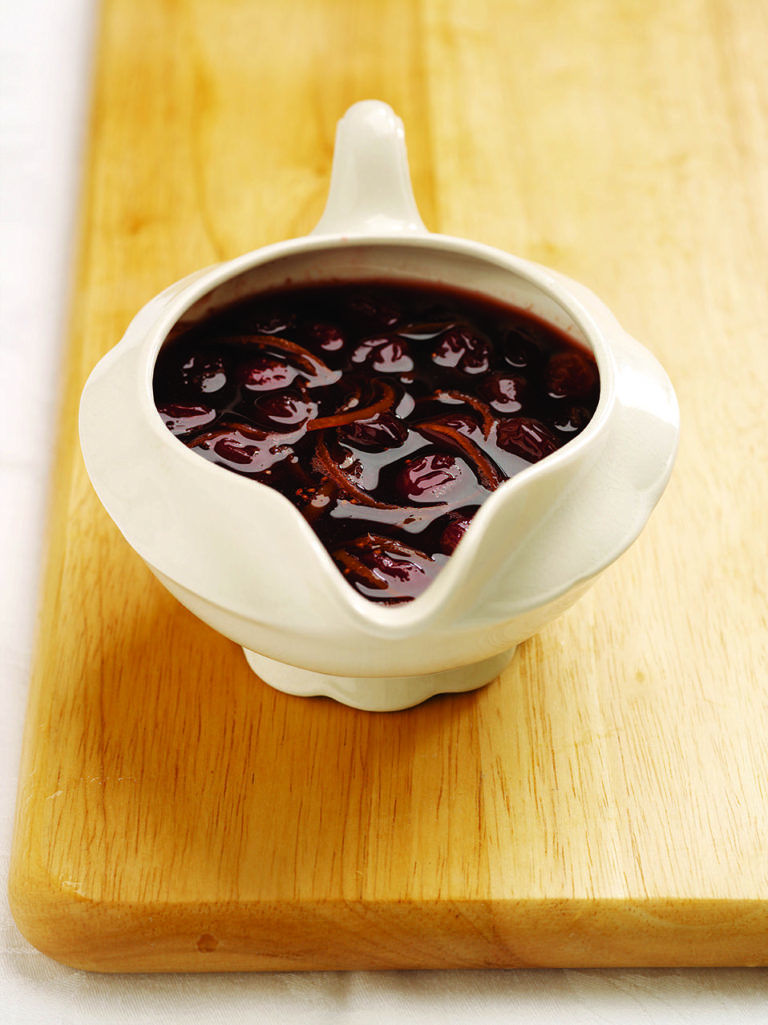 Cumberland sauce with cranberries