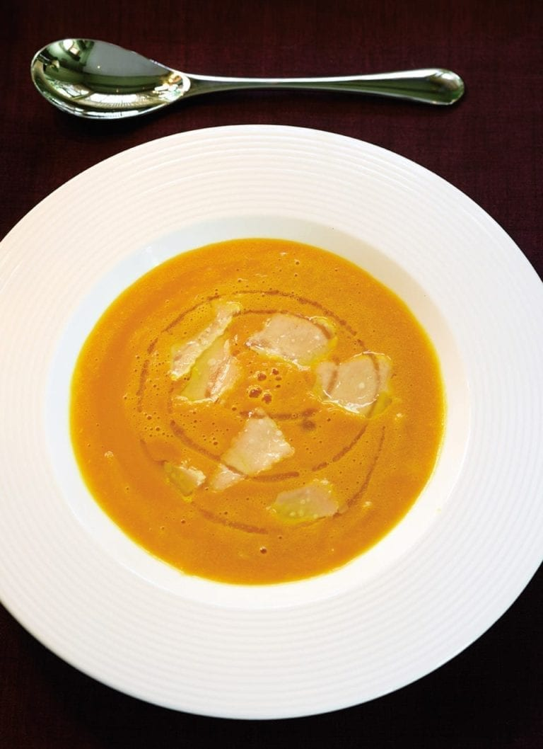 Pumpkin soup with Parmesan