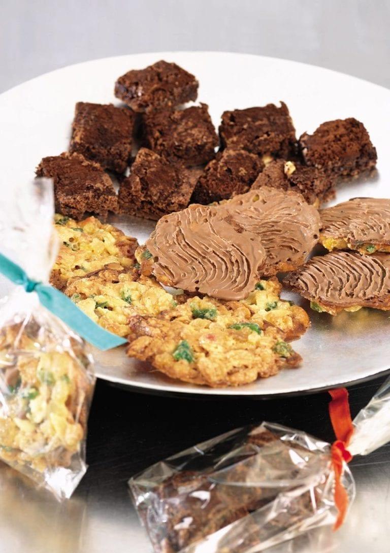 Mini gooey chocolate brownies