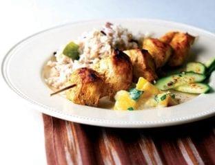 Chicken tikka with mango raita