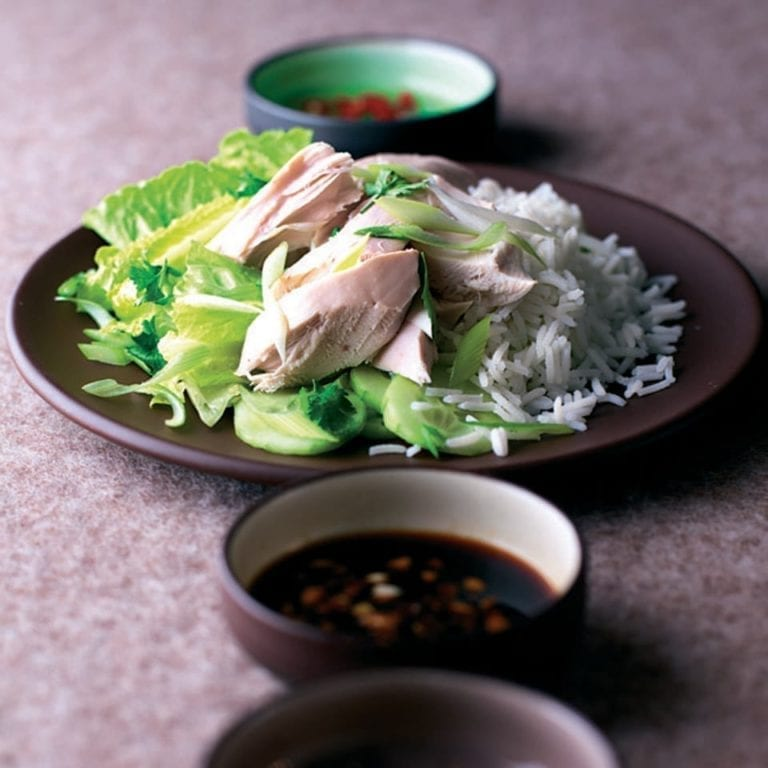 Chinese poached chicken with ginger