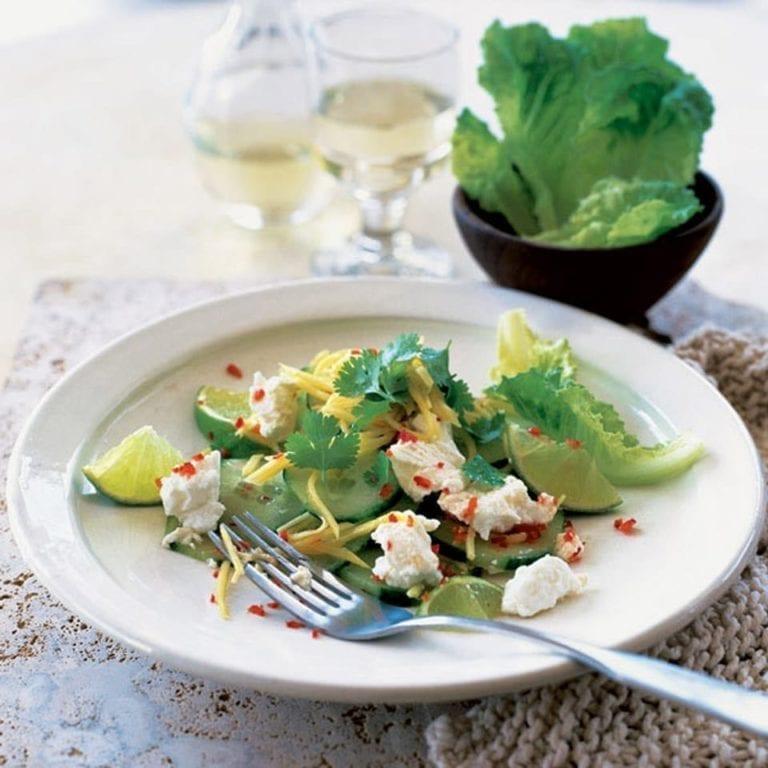 Feta, mango and lime salad