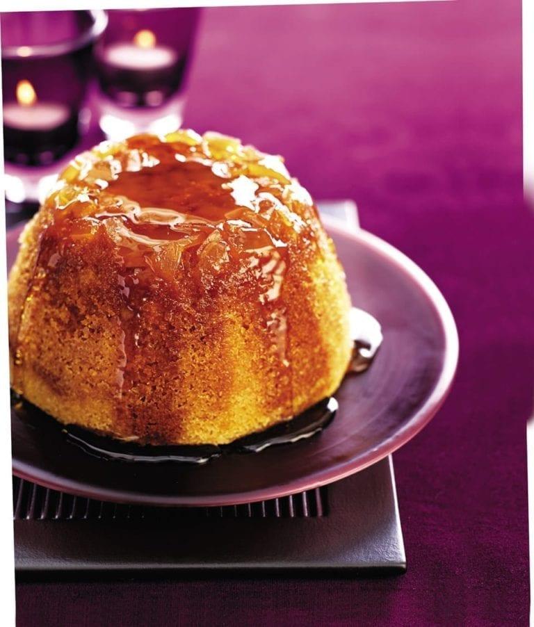 Ginger syrup steamed pudding