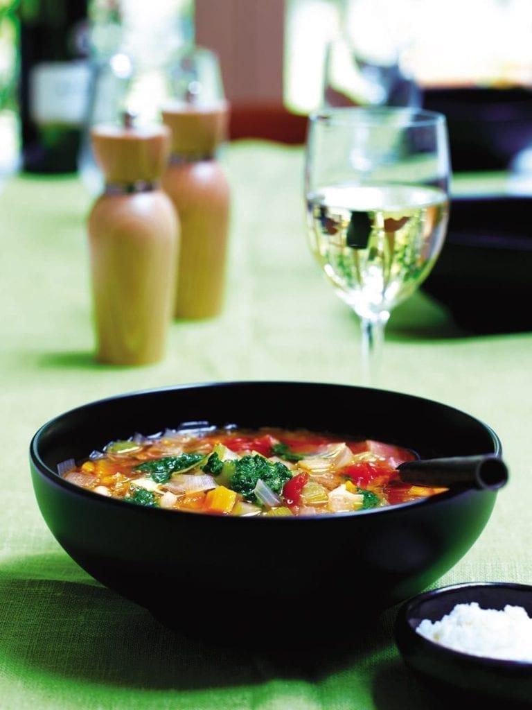 Angela Hartnett's minestrone with salsa verde