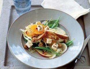 Orange, fennel and feta salad