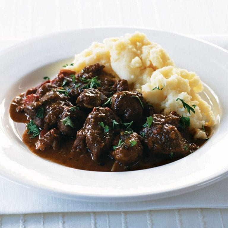 Venison and chestnut stew