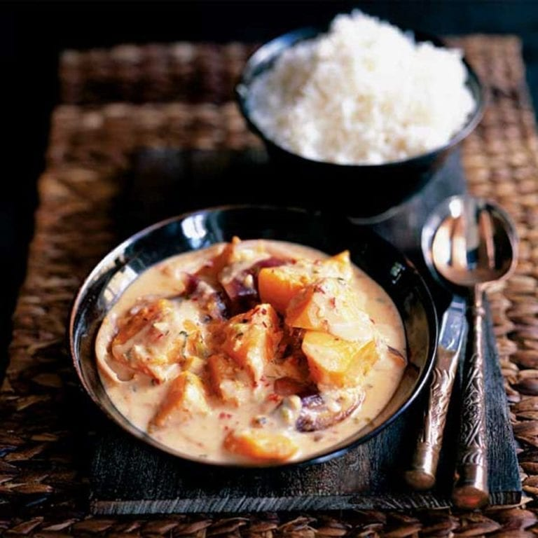 Pumpkin and peanut curry