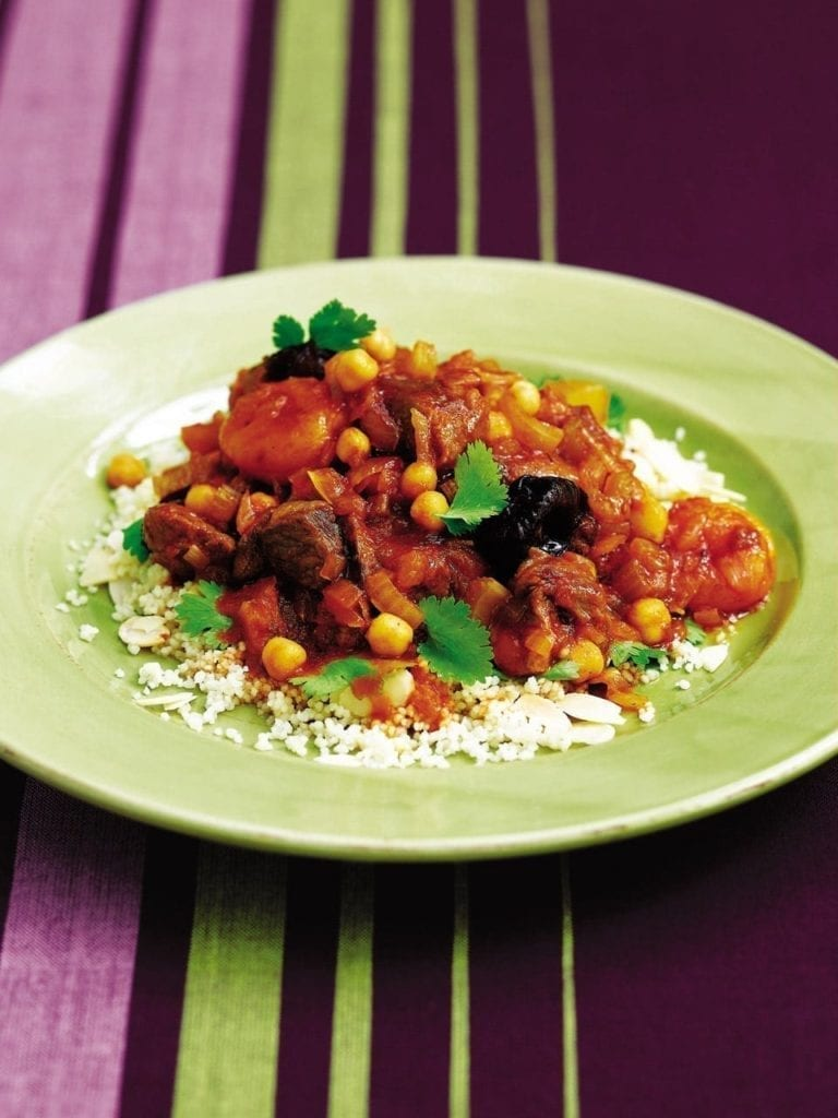 Moroccan lamb with chickpeas