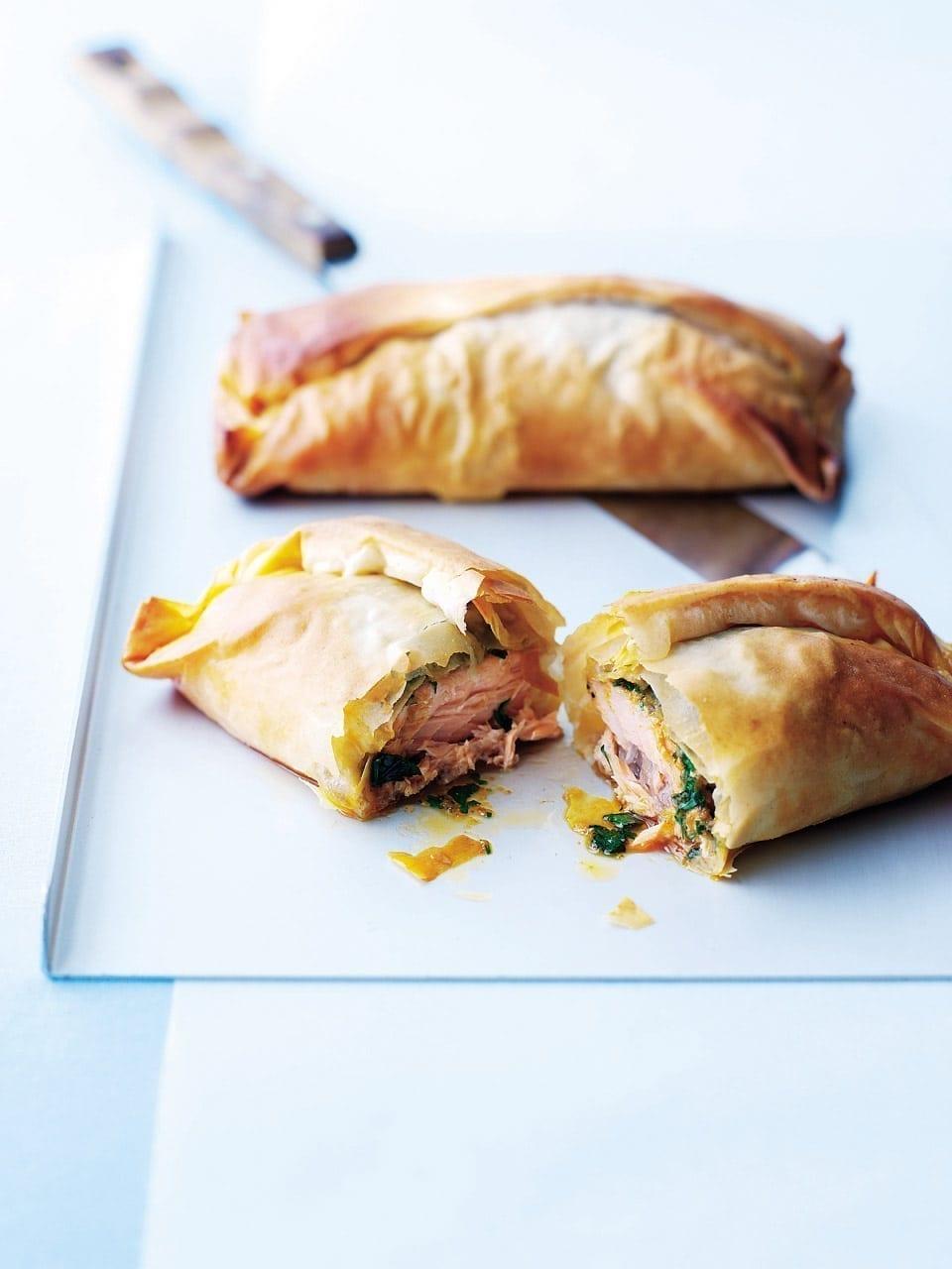 Salmon filo parcels with Thai butter | delicious. magazine