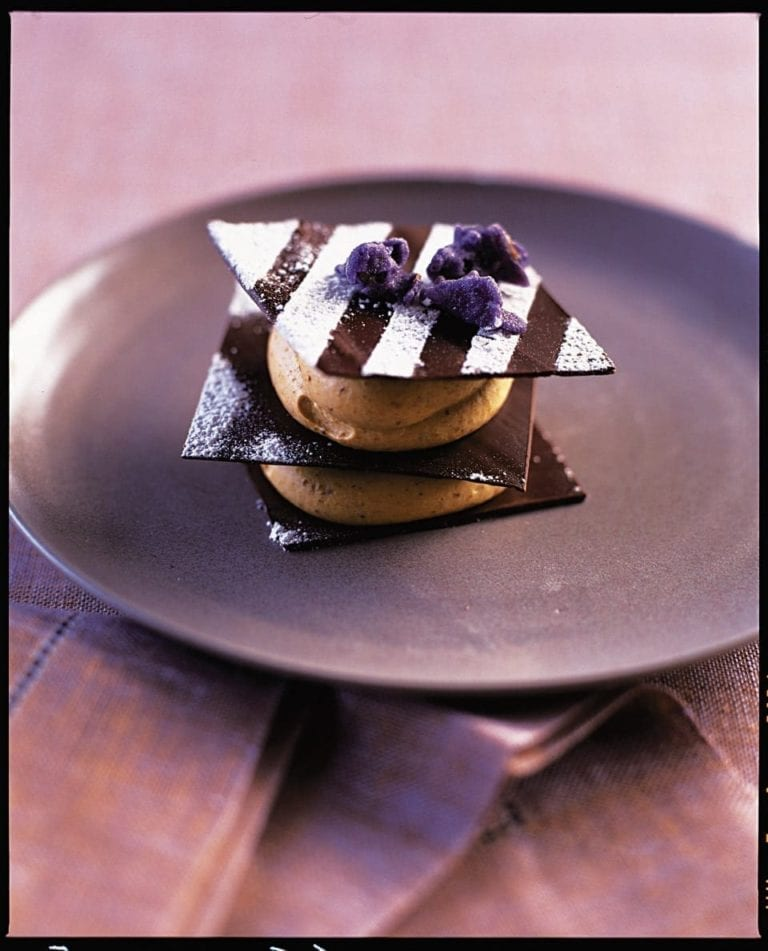 Chocolate and prune galettes