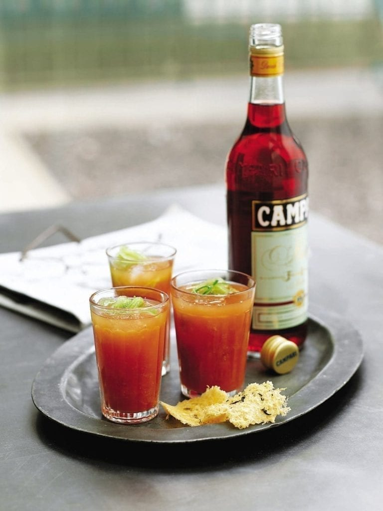Campari and tomato cooler cocktail