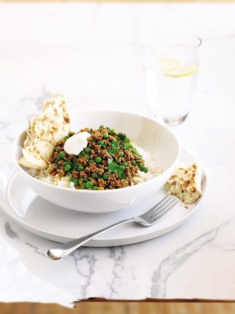 Lamb and pea keema curry